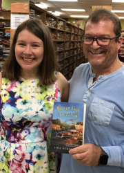 Image of Sally Kilpatrick with author at Book Exchange Signing