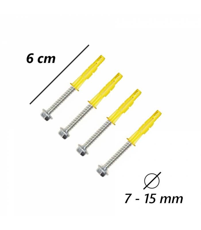 4er set schrauben fur wand oder mauerhalter mast ideal sat schussel antenne montage tv