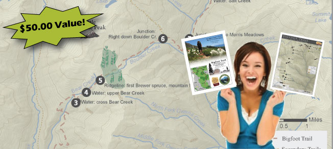 Win a Bigfoot Trail Map Set