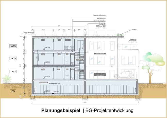 Planungszeichnung BG-Projektentwicklung
