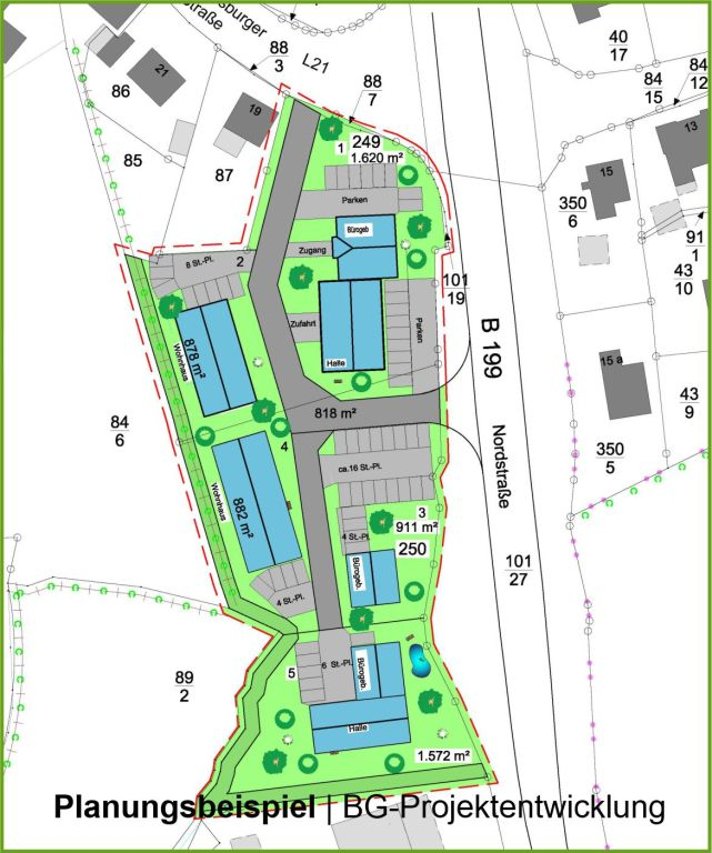 Planungsbeispiel Wohn- und Gewerbepark Kappeln