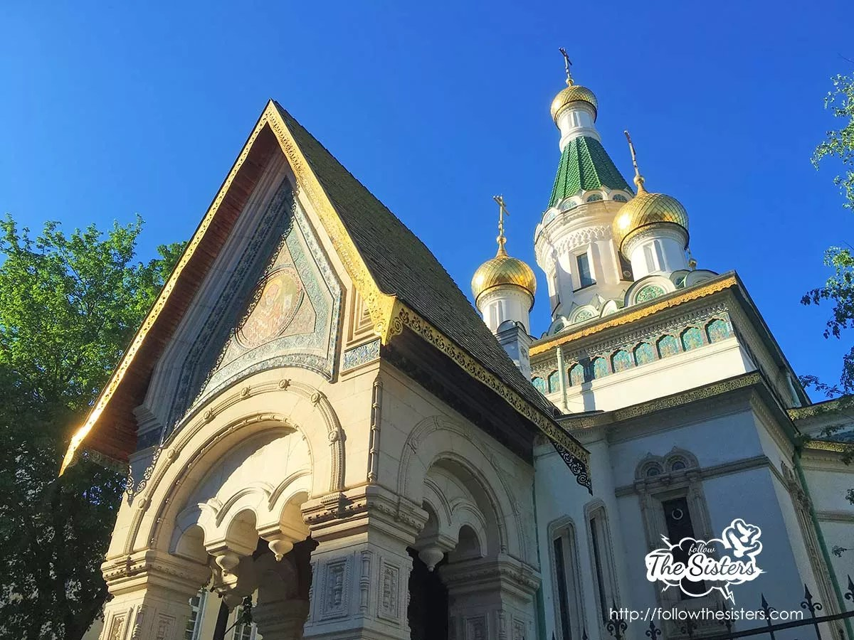 Златните кубета на Руската църква в София