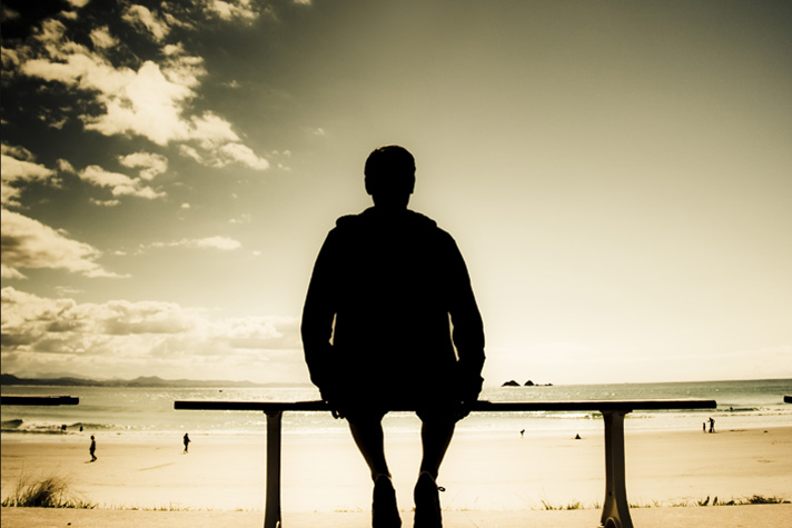 man sitting on bench - Billy Graham Daily Devotion 13 June 2018 - Believe in the Holy Spirit