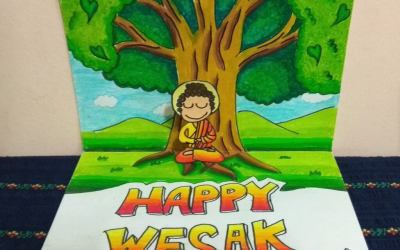 Wesak Cartooning and Pop-up Card Workshop by Sheldon & Emerson