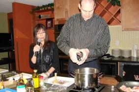 Adding fresh garlic