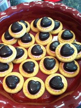 shortbread with choc hearts