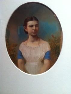 A. Goravsky, Portrait of a young girl, 1867, Salt print, painted