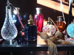 A gorgeous selection of perfume atomisers from Silver Tree Crystal (silvertreecrystal.com).
