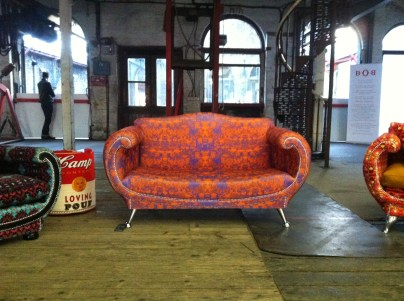 I can imagine this 1930's style love seat from The Loving Chair Company (thelovingchaircompany.com) in a decadently decorated boudoir.