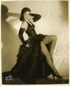1940s Cuba Tropicana Rumba Dancer Xonia Signed Photo