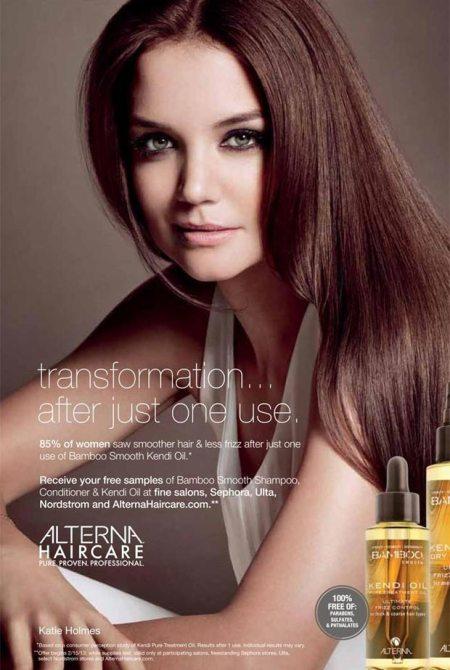 Katie Holmes para Alterna Hair Care