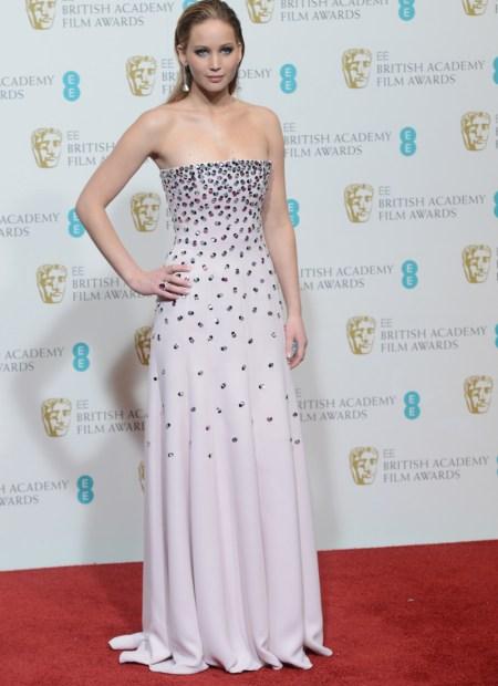 Jennifer Lawrence en los Premios BAFTA 2013