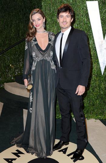 Orlando Bloom y Miranda Kerr en la Fiesta Vanity Fair