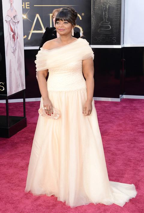 Octavia Spencer en la alfombra roja de los Premios Oscar 2013