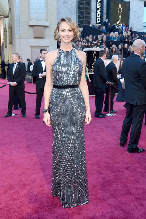 Stacy Keibler en la alfombra roja de los Premios Oscar 2013
