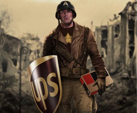Capitán América con sponsor