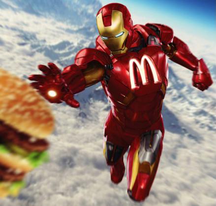 Iron Man con sponsor