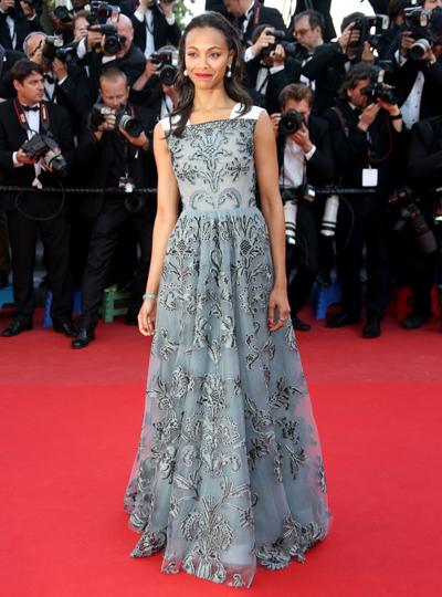 Zoe Saldana en Cannes 2013