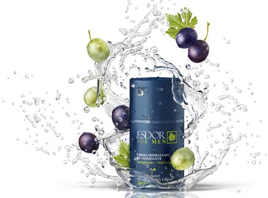 Esdor For Men trae los beneficios de la uva a la cosmética masculina