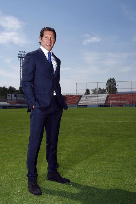 Roberto Verino viste a los jugadores del Atlético de Madrid