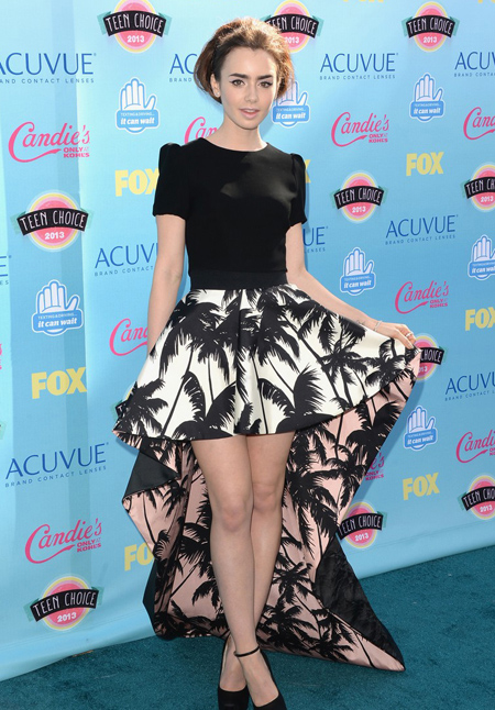 Lily Collins en Teen Choice Awards 2013