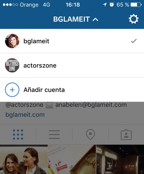 Tener 2 cuentas en Instagram