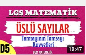 ÜSLÜ SAYILAR #1/ Tamsayının tamsayı kuvveti / 8 SINIF LGS MATEMATİK