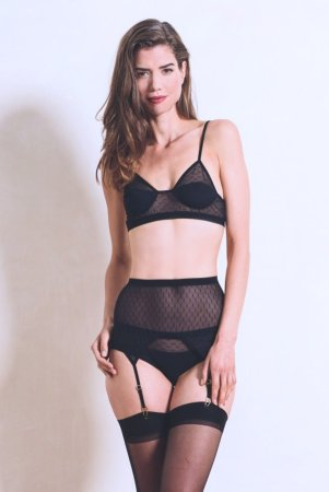 Luva Huva Black Moon Bra, Brief & Suspender Belt, £96 Photo Credit: Luva Huva