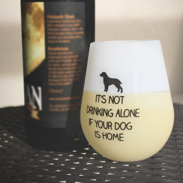Shatterproof It's Not Drinking Alone Silicone Wine Cups (Set of 2) feeds 5 shelter dogs, $14.99, Photo Cred: I Heart Dogs
