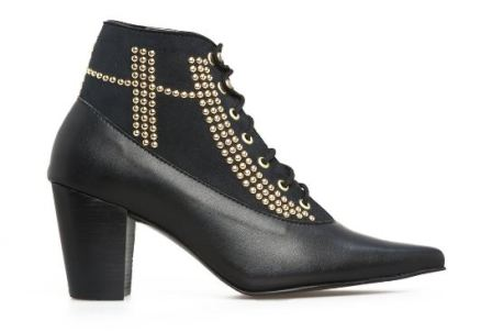 Nicora Wynonna Studded Ankle Boot - Black, $464, Photo Cred NIcora