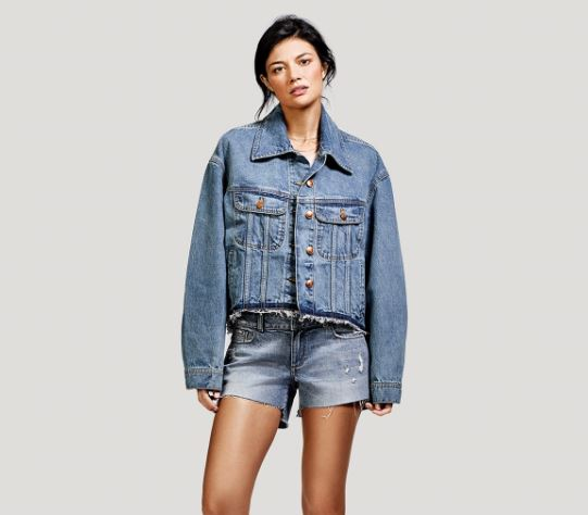 DL1961 Zoe Oversized Jacket in Grungy, $198, Photo Cred: DL1961