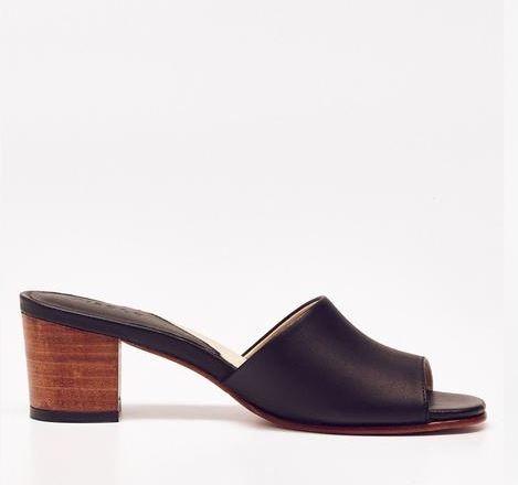 Nisolo Elizabeth Slide Noir, $158, Photo Cred: Nisolo
