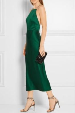 Jason Wu Satin-Crepe Midi Dress, $120 from Style Lend