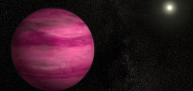 I bet you've never seen a pink planet before, but it exists