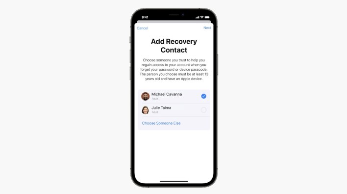 iCloud Recovery Contact