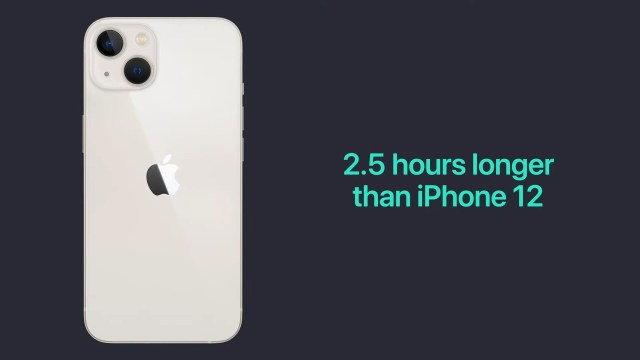 iPhone 13 battery life