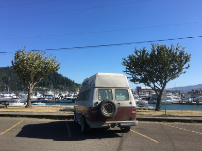 Van views and eats from the Portside bistro.