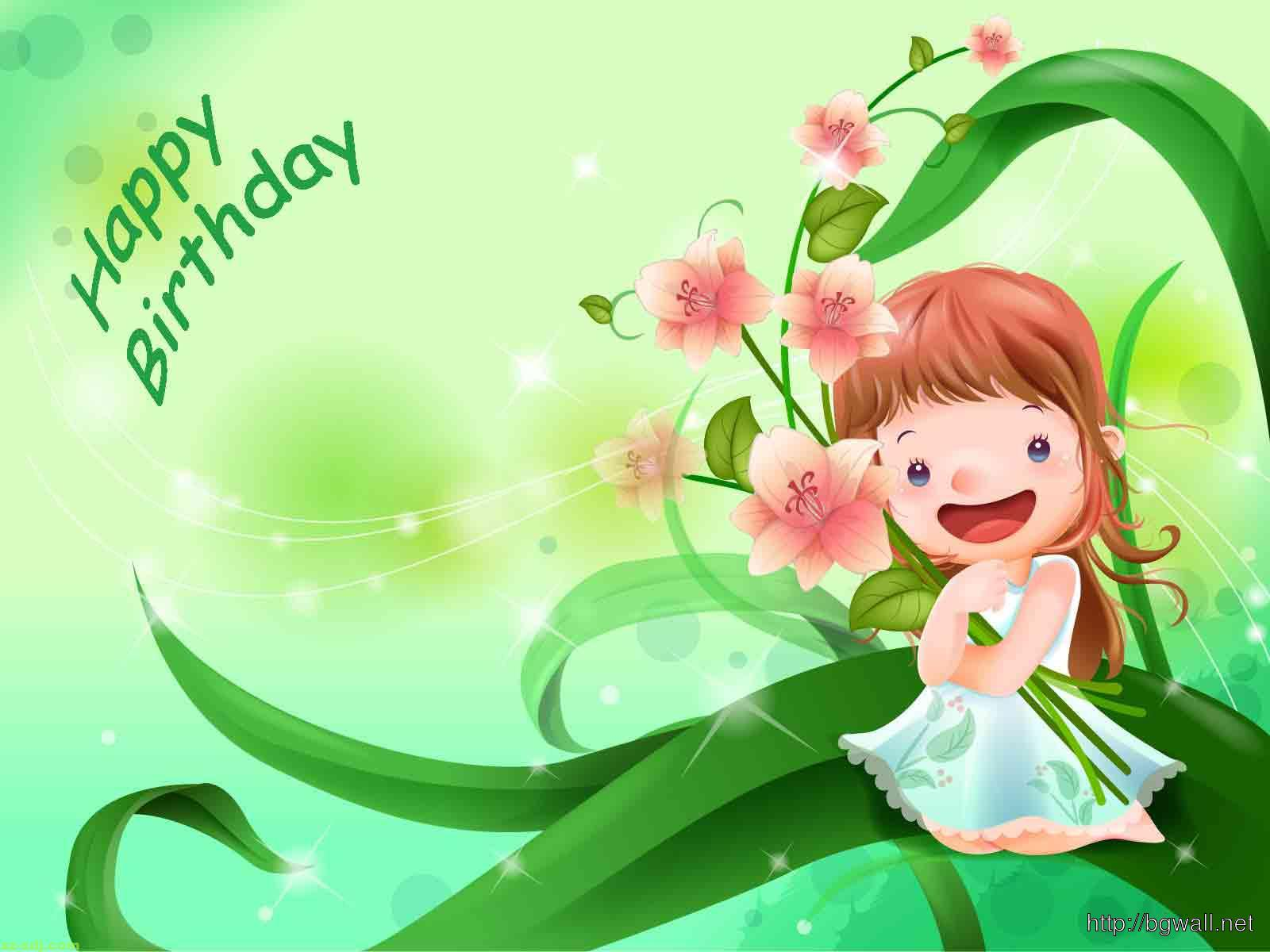 Cute Happy Birthday Wallpaper Hd Background