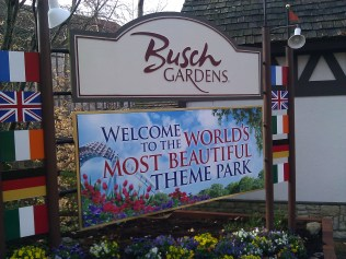 Busch Gardens Entrance Sign