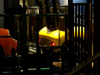 Working tail lights on the yellow train