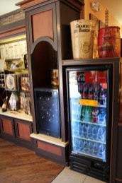 Moving into the wine shop area