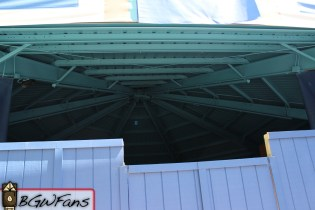 Looking up at the roof of the pavilion. Nothing changed there