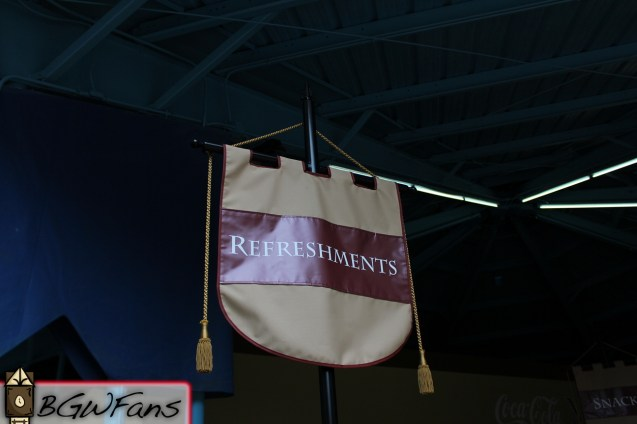 The refreshments banner