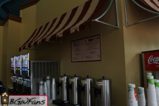 A shot of the tea and ICEE area