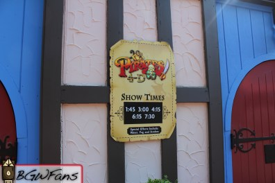 Showtimes sign