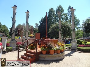 An overview of the Da Vinci's Garden area