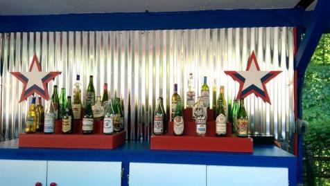 Decorative booze bottles. 'MERICA!