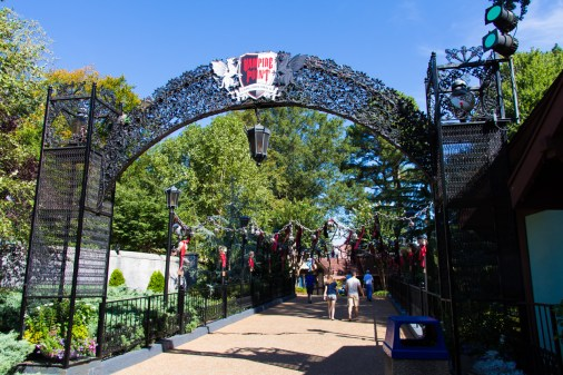 Entrance to Vampire Point from the Oktoberfest side of Rhinefeld
