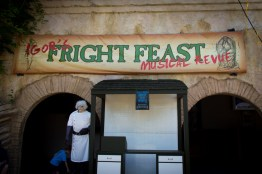 Here's the front of the park's new dinner show, Igor's Fright Feast Musical Revue. Interested to see how this one turns out