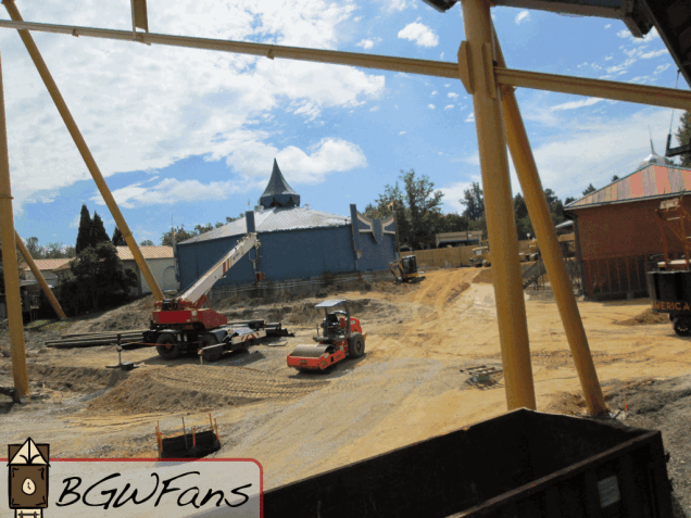 An overview of the site looking towards the Coke Market from the parking lot side of Apollo